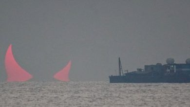 Photo of «Los cuernos del diablo» aparecen en el cielo de Qatar durante eclipse