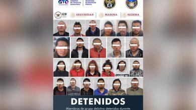 Photo of Capturan a 24 miembros de grupo criminal que mantenían secuestrado a un hombre en Silao
