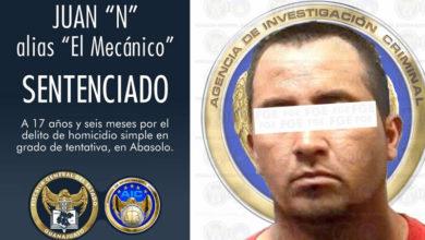 Photo of Condena de 17 años en contra del sujeto que agredió con disparos a elementos de Investigación Criminal en Abasolo
