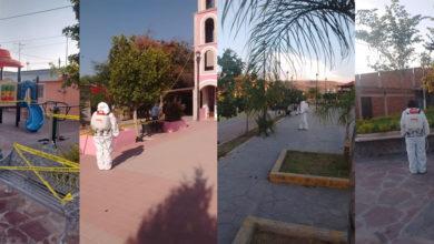 Photo of Limpian, sanitizan y restringen espacios públicos en comunidades rurales